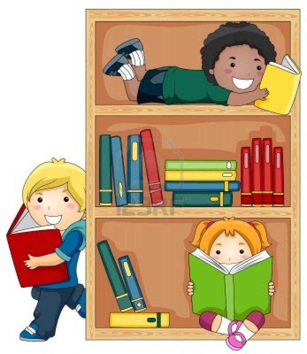 8129539-a-small-group-of-kids-reading-books-royalty free