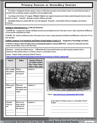 Thomas Nast Educator Guide-Page 3-Primary Sources-GNall-TeachingSeasons