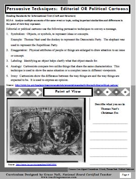 Thomas Nast Educator Guide-Page 4-Persuasive Techniques-Political Cartoons-GNall-TeachingSeasons.com-1