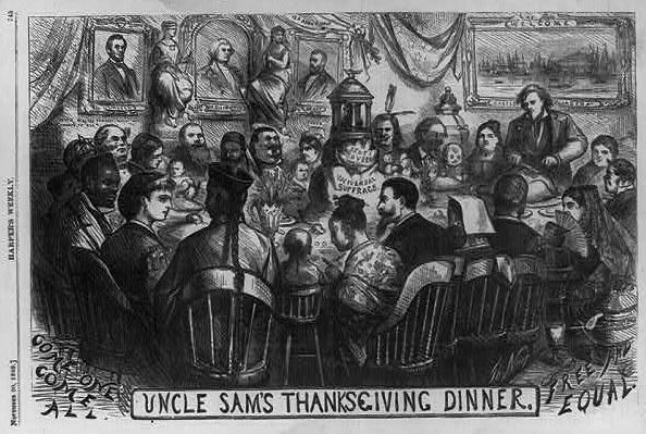 Thomas Nast - Uncle Sams Thanksgiving Dinner-LOC cph.3b32401