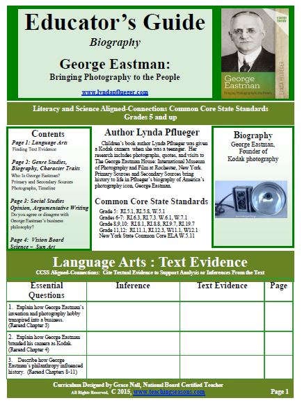 George Eastman Educator Guide - by Grace Nall - Page 1